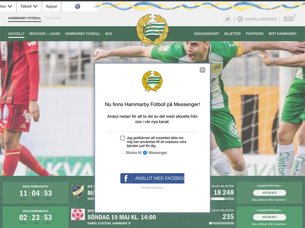 Hammarby Fotboll använder sport chatboten