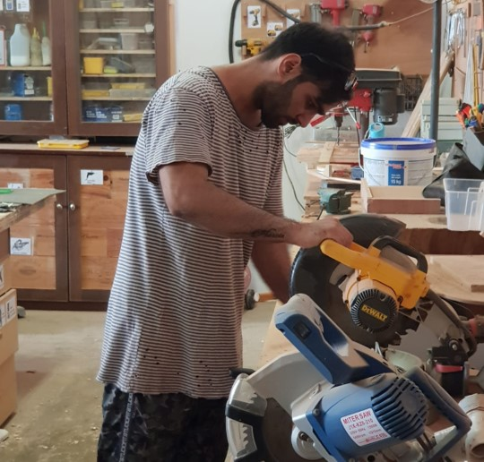 Preet    Senior Carpenter : has a Bachelors degree in Economics from Kurukshetra University, India. He has several years experience in furniture design and carpentry in both India and Singapore, including creating in-house designs for his family run furniture business.