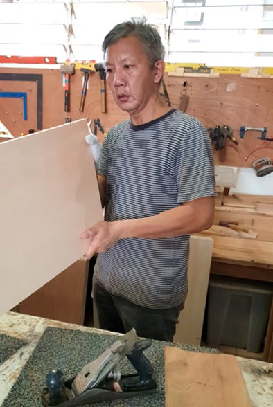 Ah Huat    Senior Carpenter : has over 25 years of carpentry and cabinet making experience. Served in Singapore Armed Forces as a Storeman.