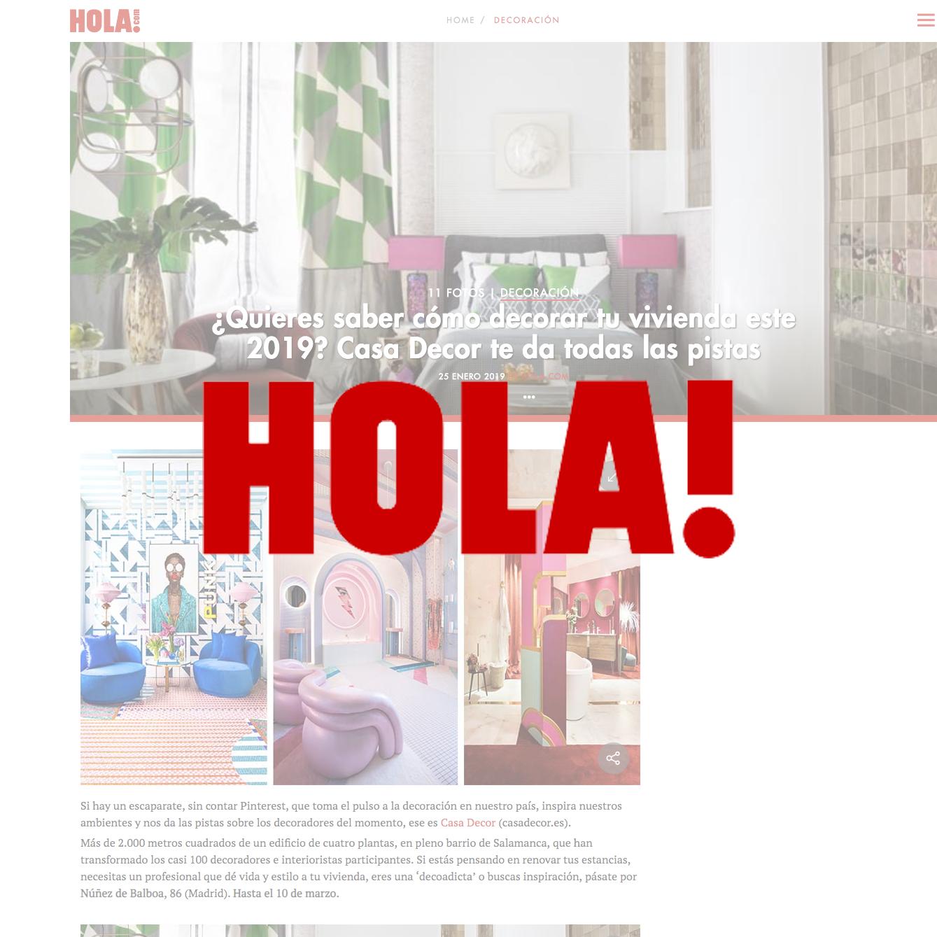 HOLA! - ENERO 2019