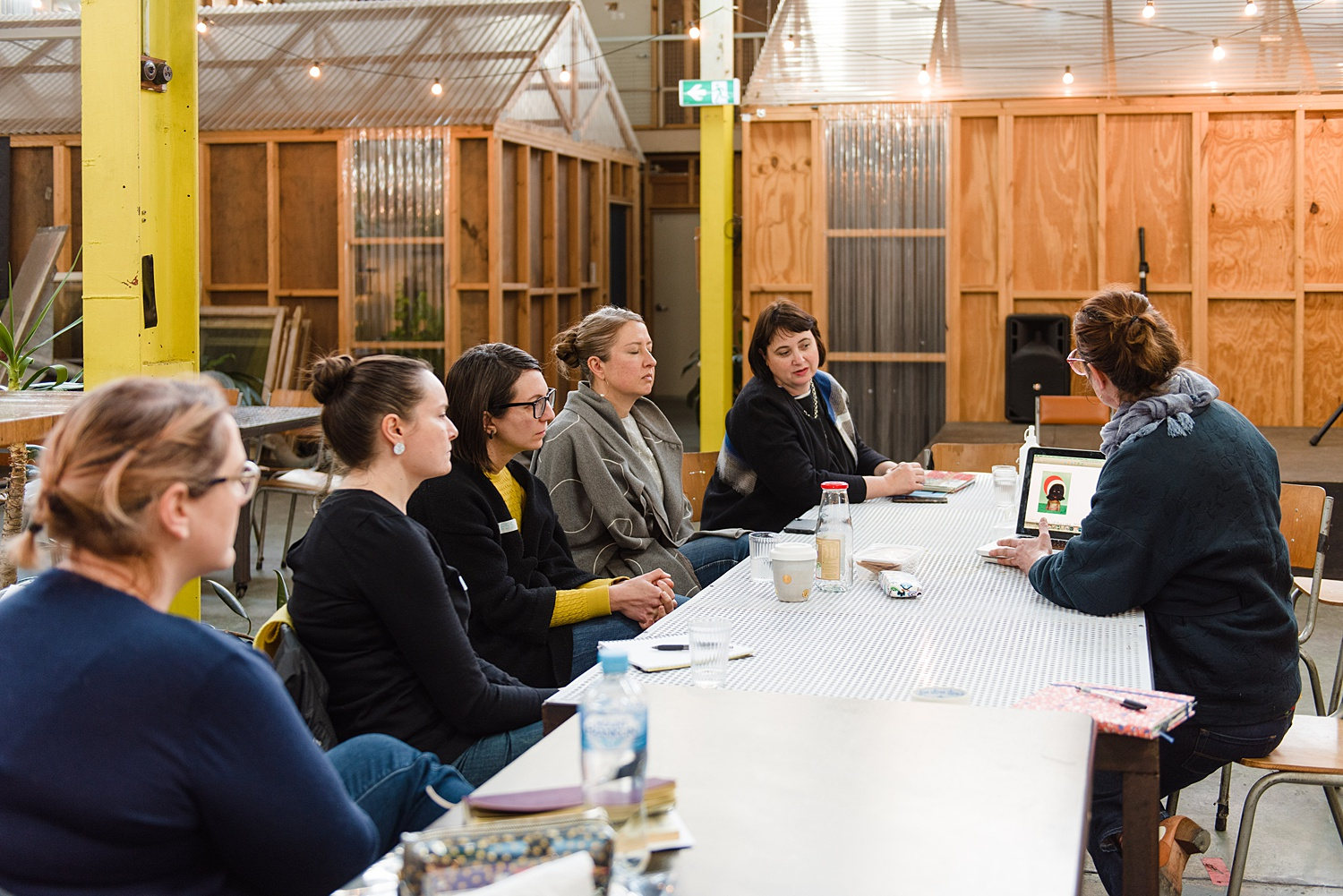 Mentor Jacqui Stockdale at member Q&A Event discussing her work & career with members. SUN 28 JUL 2019  Image by: Samara Clifford