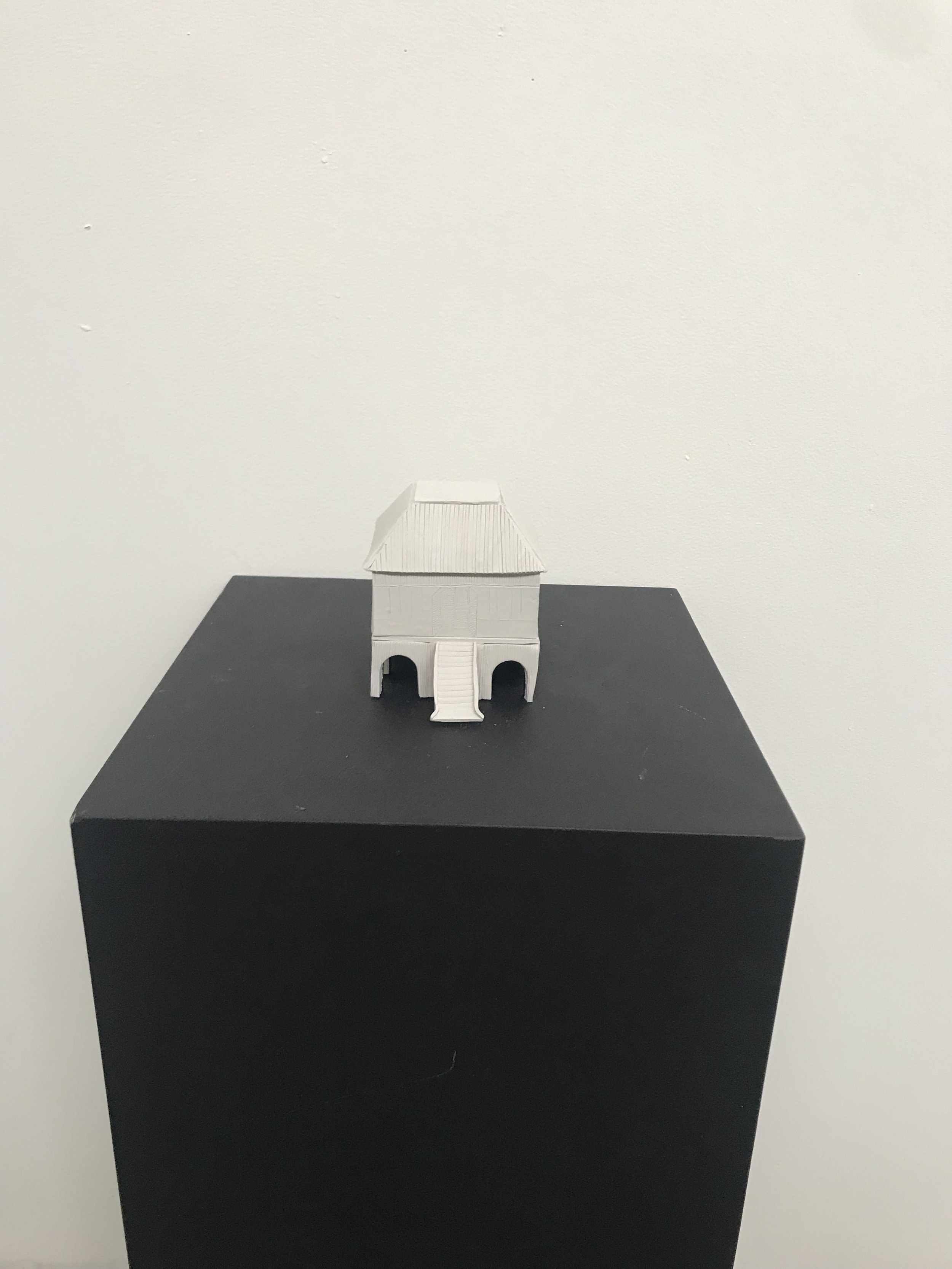Member artwork 'The Ghost House', Tess McCabe 2019 for group exhibition 'Beg. Borrow. Steal.'