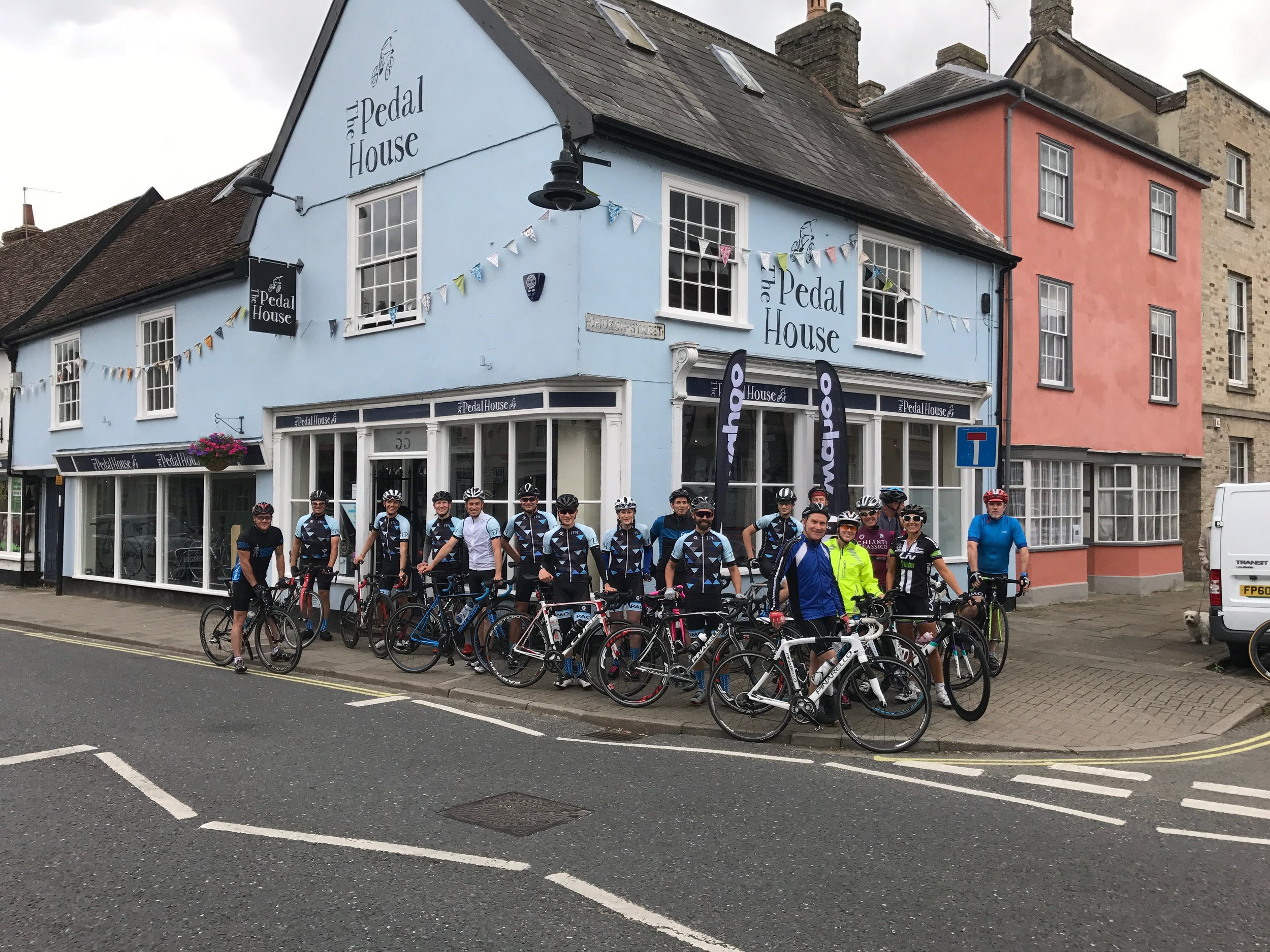 Join us for a summer ride - Throughout the summer we have a fortnightly social shop ride on Thursdays. We meet at the shop at around 5:45pm ready to start the ride promptly at 6:00pm. We have several different routes which we use, and they are all roughly 30 miles. The goal of this ride is for it to be SOCIAL, and we only ride as fast as the slowest rider. We have a no-drop policy, so no-one will be left behind, and we always end up back at the shop for a coffee (and often some cake!).