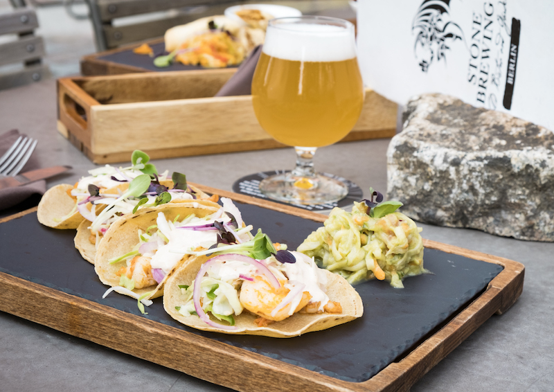 Stone Brewery | Seared Shrimp Tacos | TookTook