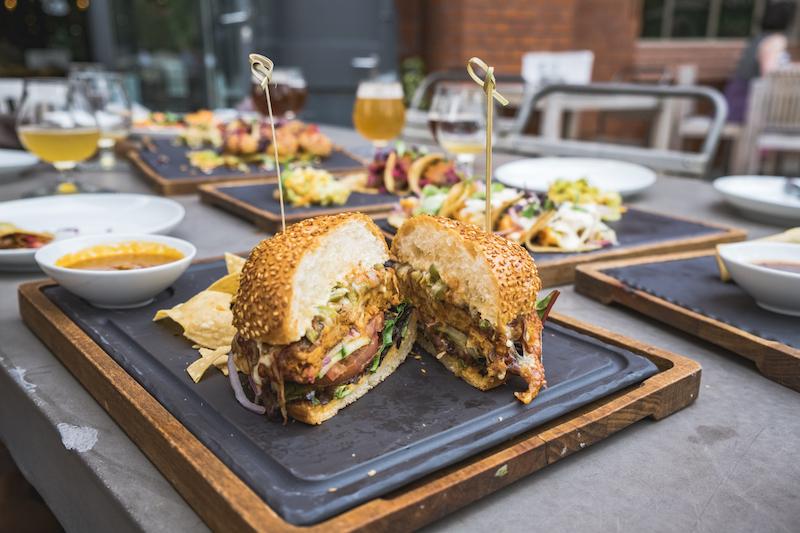 "Stone Brewery | Vegetarian Tempeh ""Fuego Burger"" | TookTook"