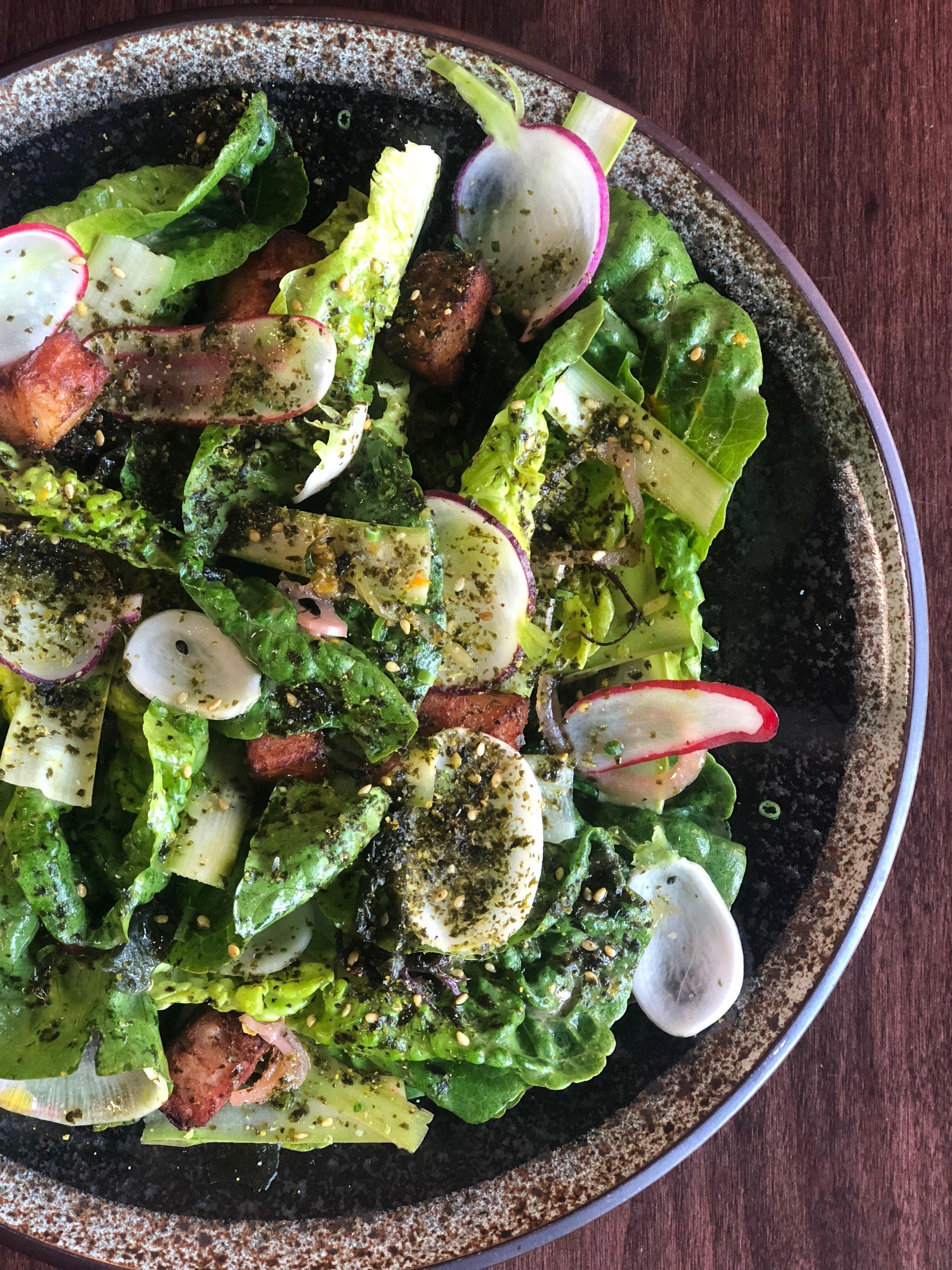 Gem Lettuce Salad | Kisa Tanto | Sachin Obaid