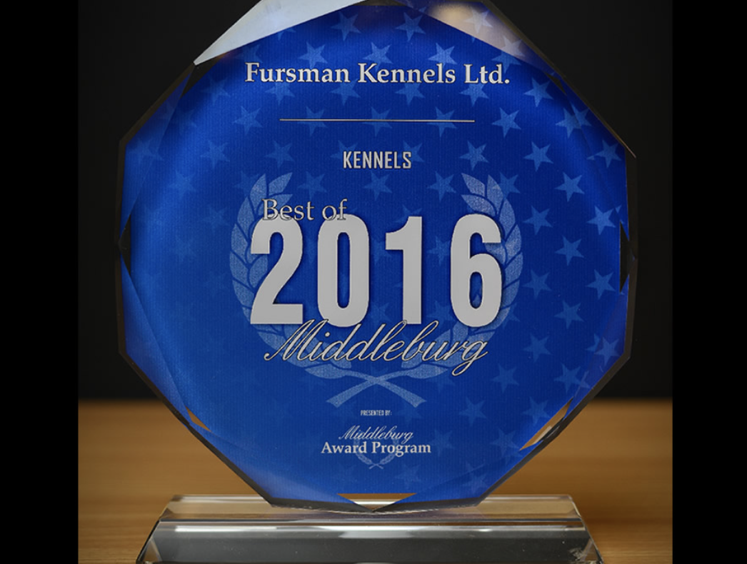 """Fursman Kennels has earned many accolades including the 2016 """"Best of"""" Kennels"""