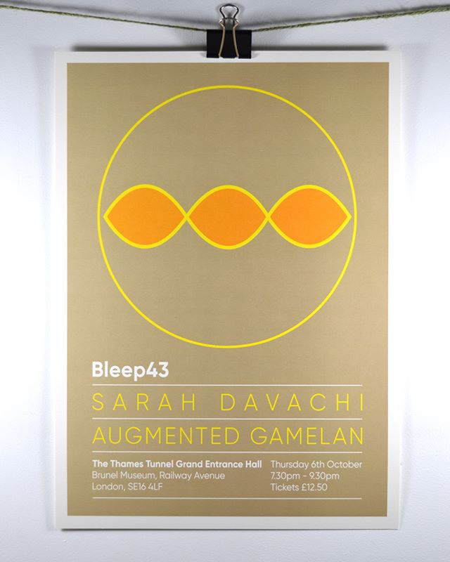 Short run poster design for Bleep43 electronic music event in London with Sarah Davachi (@sdavachi) and Augmented Gamelan.⁣ ⁣⁣ ⁣The design reflected the movement of sound waves in the cylindrical shape of the venue (The Thames Tunnel designed by Brunel, built 1825-43). ⁣ ⁣.⁣ ⁣.⁣ ⁣.⁣ ⁣Since 2001 Jellymould has supported not-for-profits, social enterprises, companies and individuals to make an impact with their branding and create quality, user-focused materials, websites and apps.⁣⁣ ⁣⁣⁣⁣ ⁣⁣We've just launched our new website and we'll be posting some of our work here over the next few weeks. Thanks for looking!⁣ ⁣⁣ ⁣#branding #print #creative #jellymoulddesign #minimalist #graphicsdesign #typography #thamestunnel #bleep43