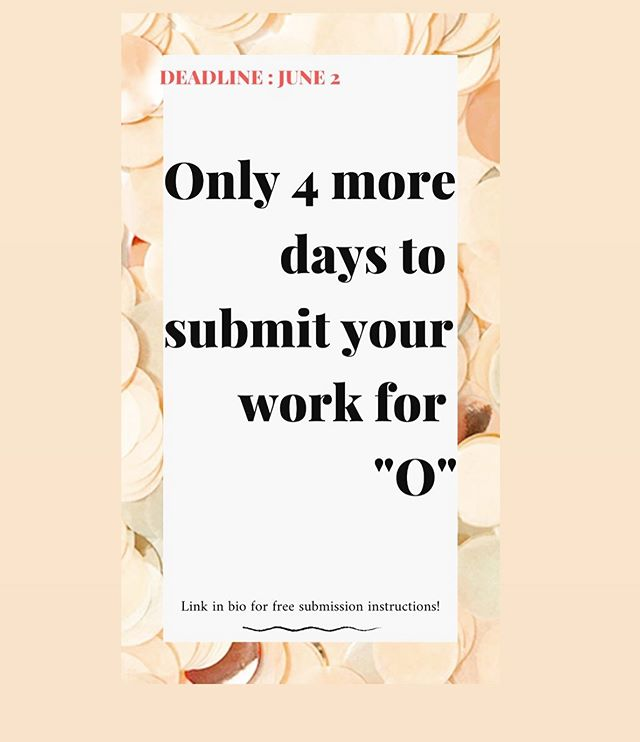 Four more days! There are already some wonderful submissions from all over the US and the world. It's going to be a great show so submit your work to make it even better! No cost to submit, no commission on sales. All efforts are to support and promote artists while hearing the wonderful voices within Dayton and bringing in other perspectives from far and wide. #portmanteauprojects #callsforentry #callsforart #callforartists #callforentry