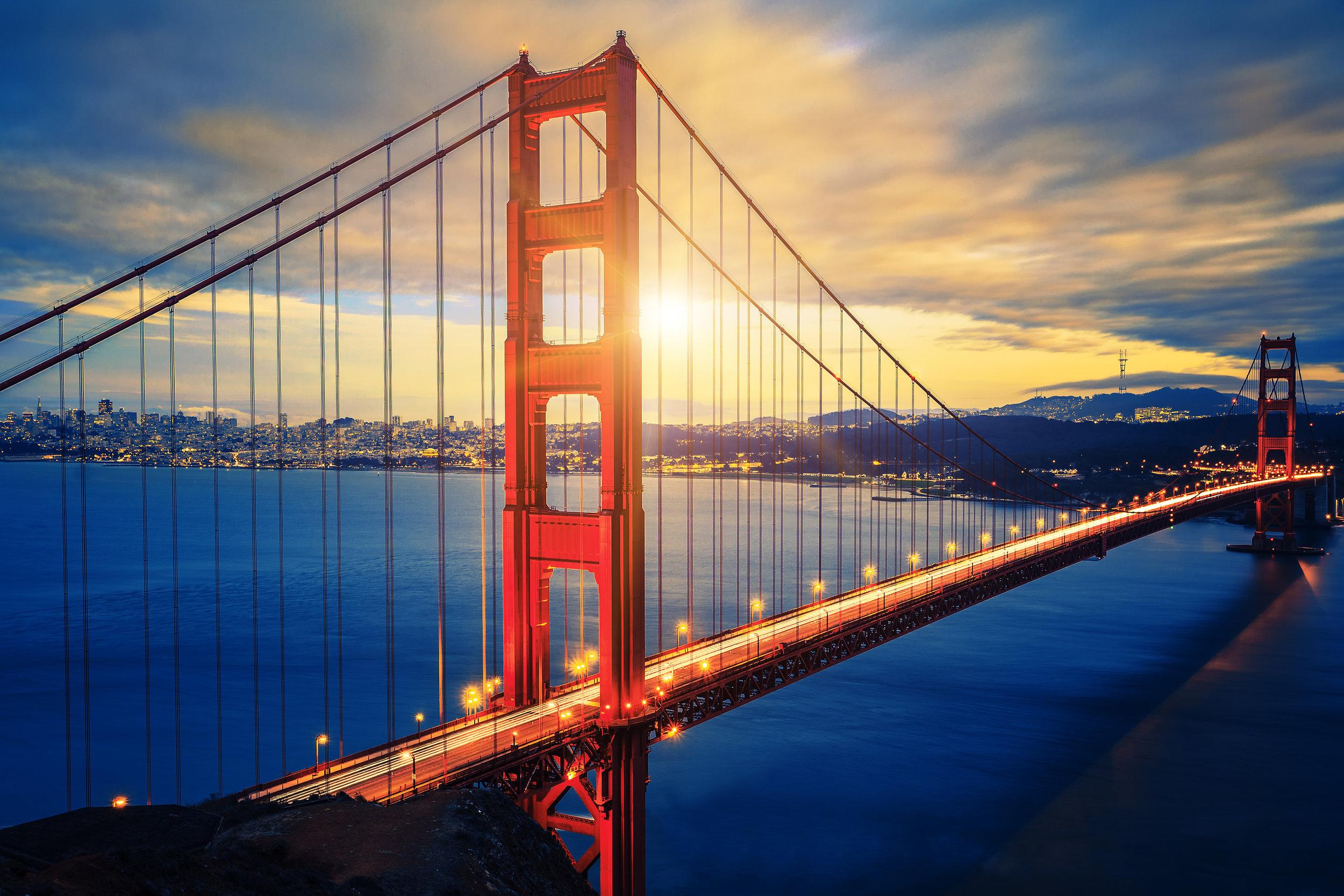 Famous Golden Gate Bridge At Sunrise.jpg