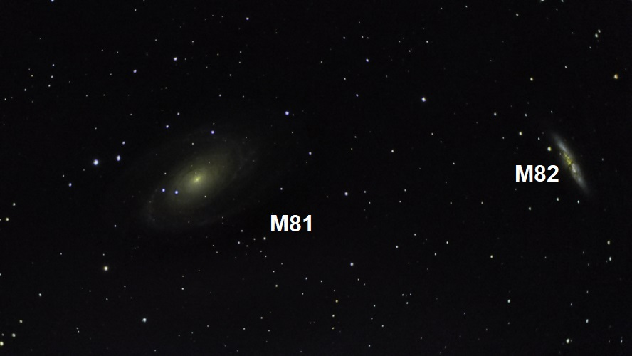 """M81 / M82 again, but taken a month after my first attempt using 50 x 50"""""""