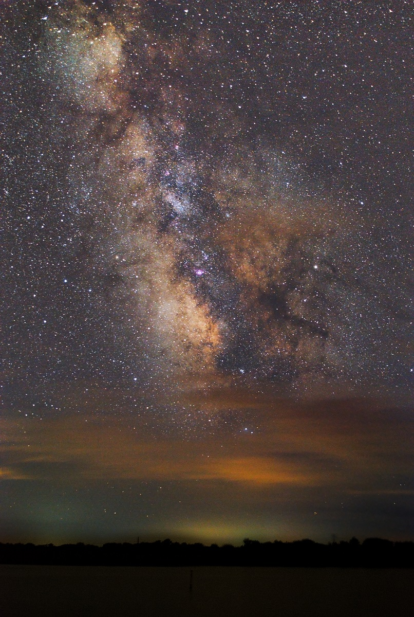 The Milky Way taken with equipment totaling less than $250. Canon T3i, 18-55mm kit lens, static tripod, taken in Nebraska in August 2017