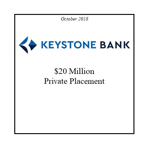 Keystone Bank raises private placement