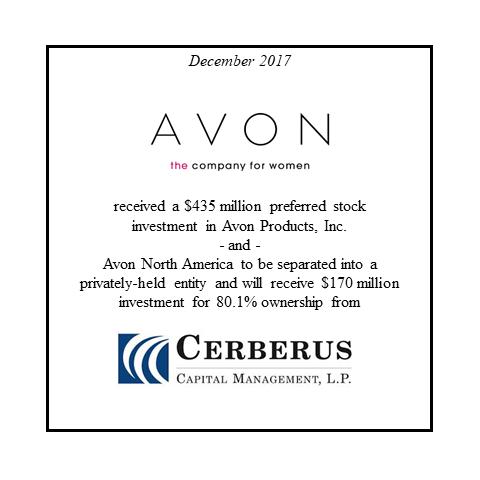 Avon Products Cerberus Capital