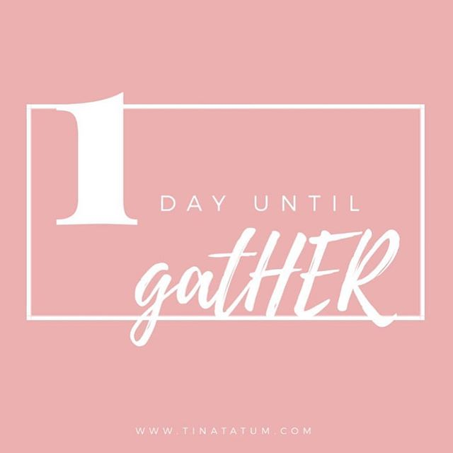 What what??? Tomorrow morning the fun begins!!! If you haven't already.... grab some friends and your tickets - link in bio. . . www.gather-women.com .  #gather2019