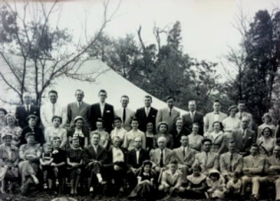 May 1954 - Constituting service on church lot.