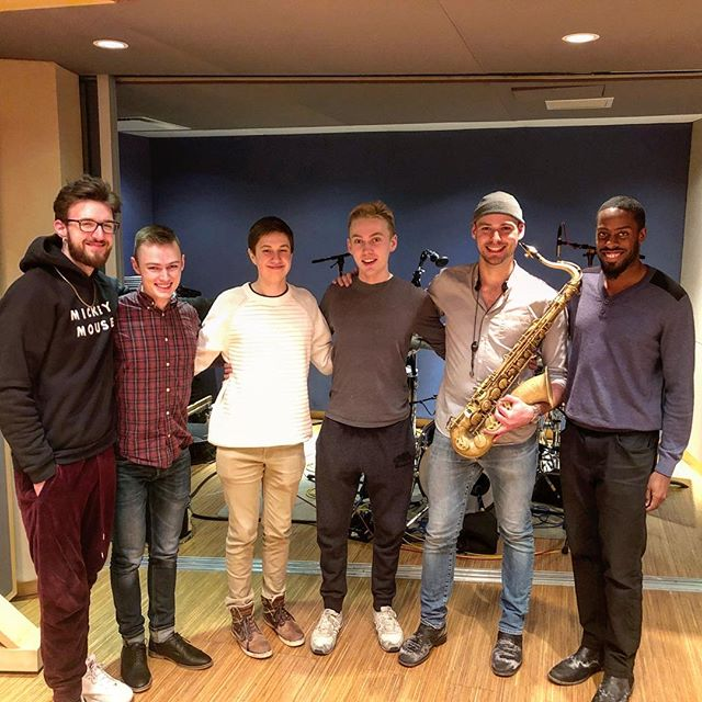 Had the pleasure of recording some of my original music with this super talented group of guys last week! Stay tuned for official release info! . . . . . #torontomusic #jazz #sax #humberblitz #ionlyownoneshirt