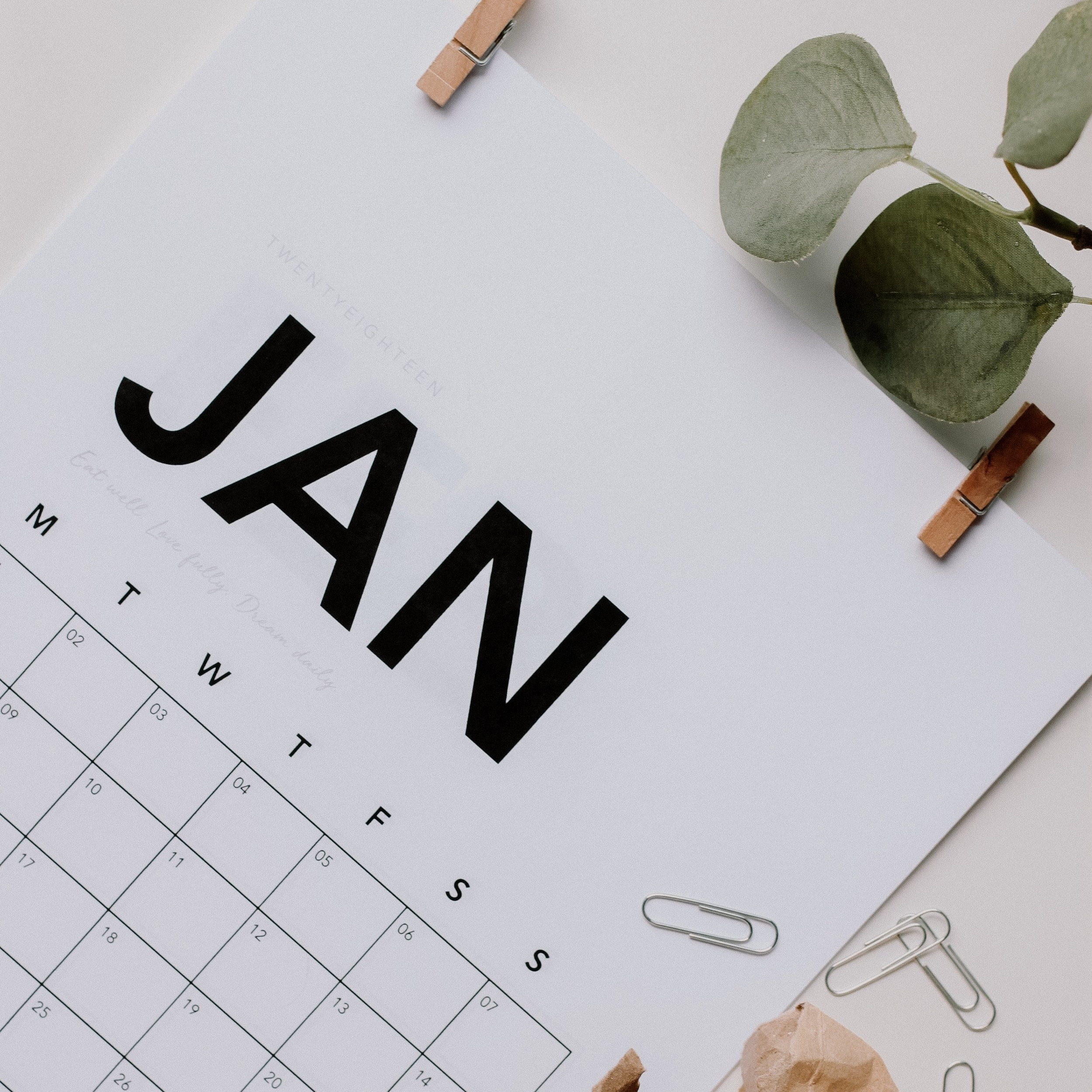 resource-saving tips for each month of the year -
