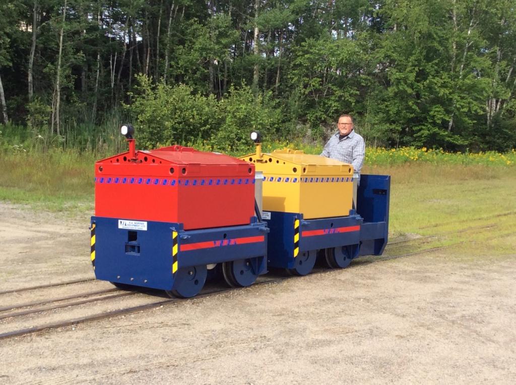 4-5 ton tandem  Mining Locomotive