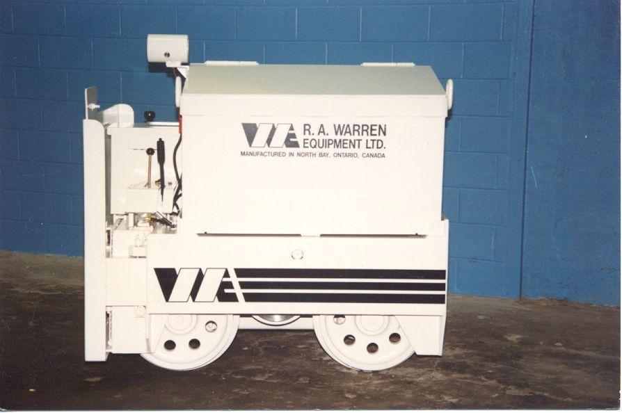 Mining Locomotive - ready for shaft transportation