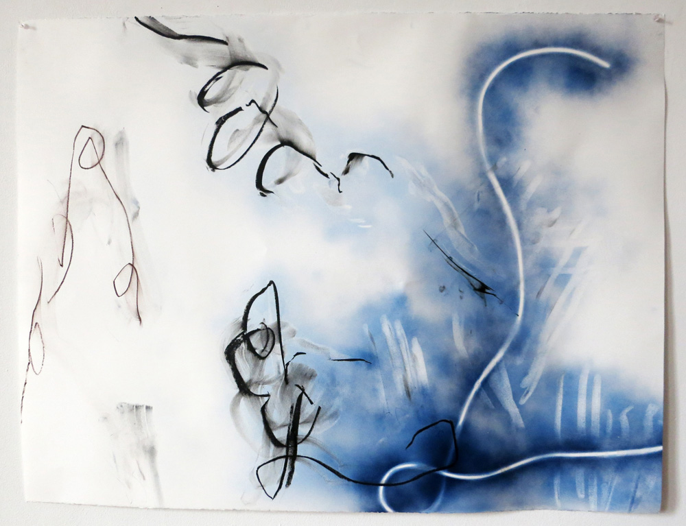 Blue Calligraphy I, 2015