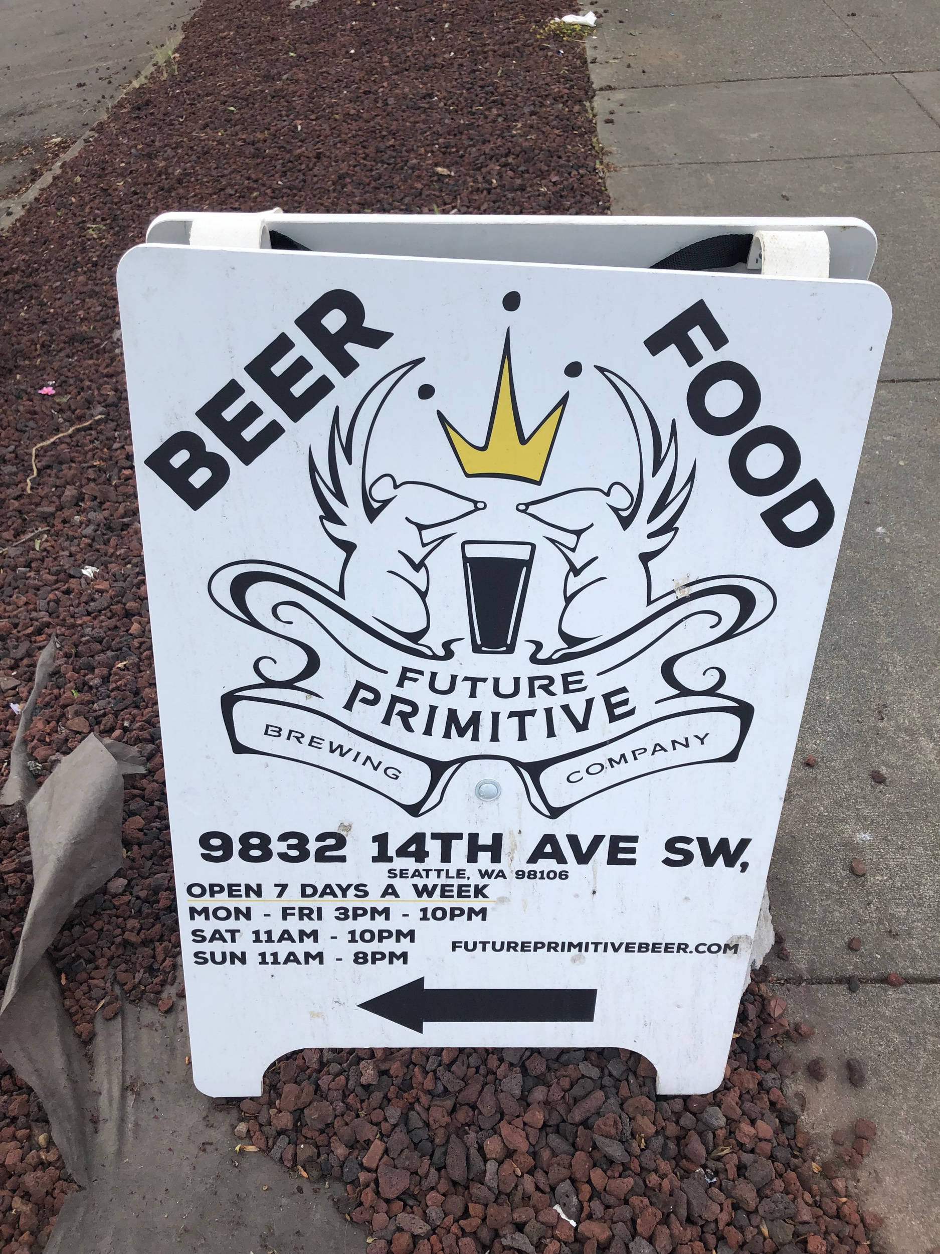 Future Primitive Brewery - Hosting the Sunday Pride Fair.