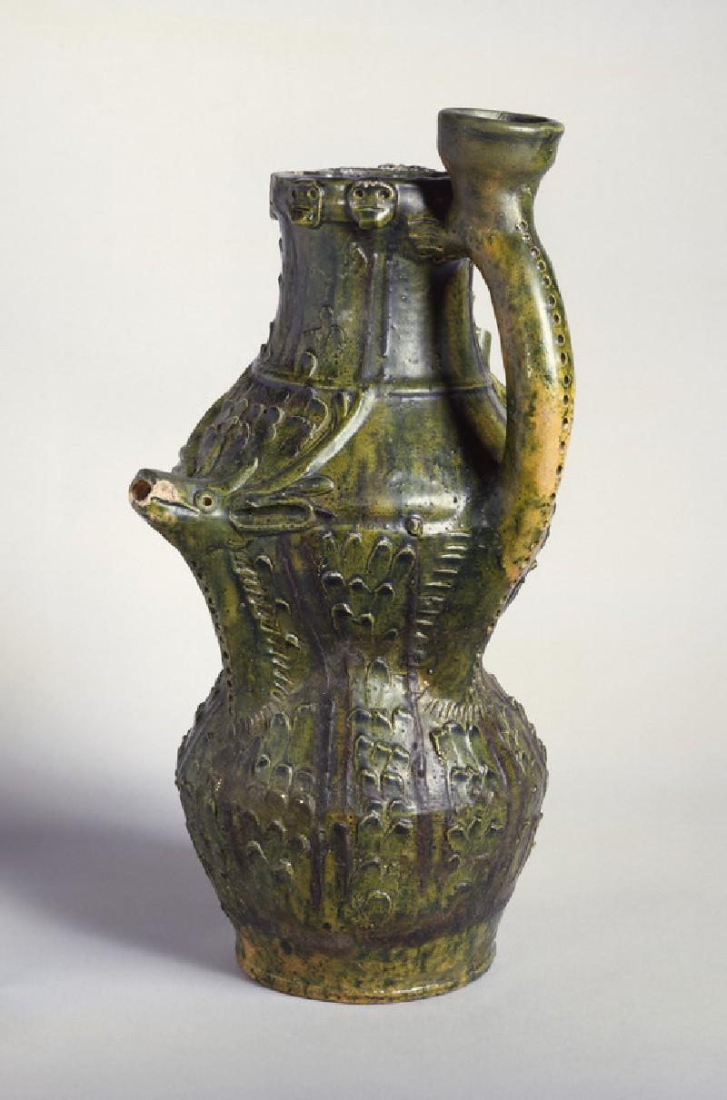 Puzzle jug. Britain, 13th–14th century. The Ashmolean Museum [AN1921.202]