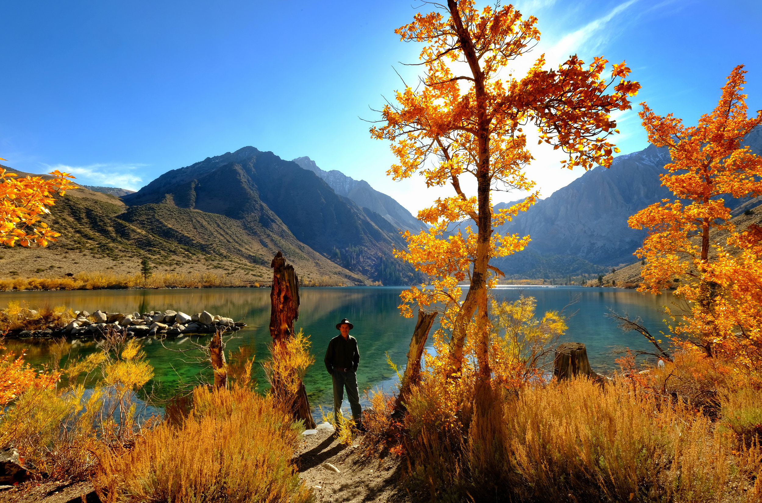 Photographing at Convict Lake in the Eastern Sierra