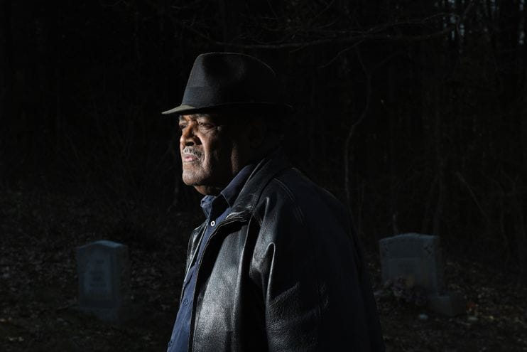 John Johnson in the Whytheville, Va., graveyard. Photo courtesy of the Washington Post