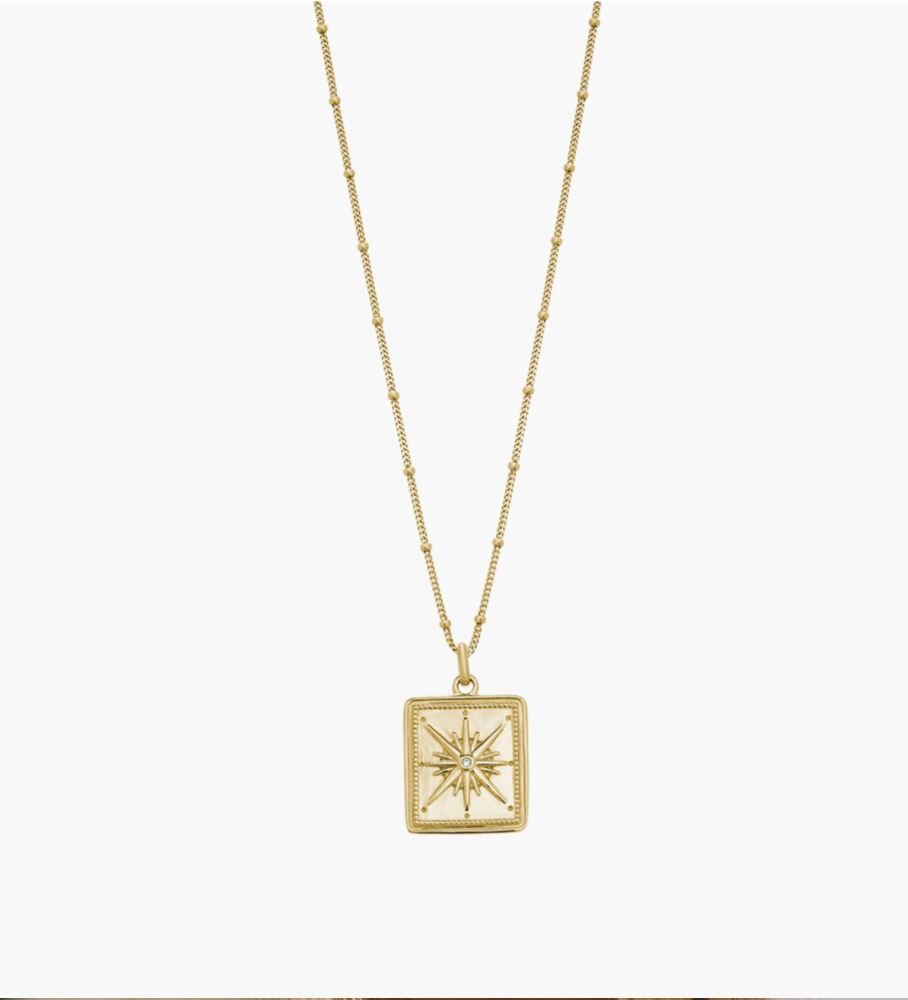 Kirsten Ash True North Coin Necklace