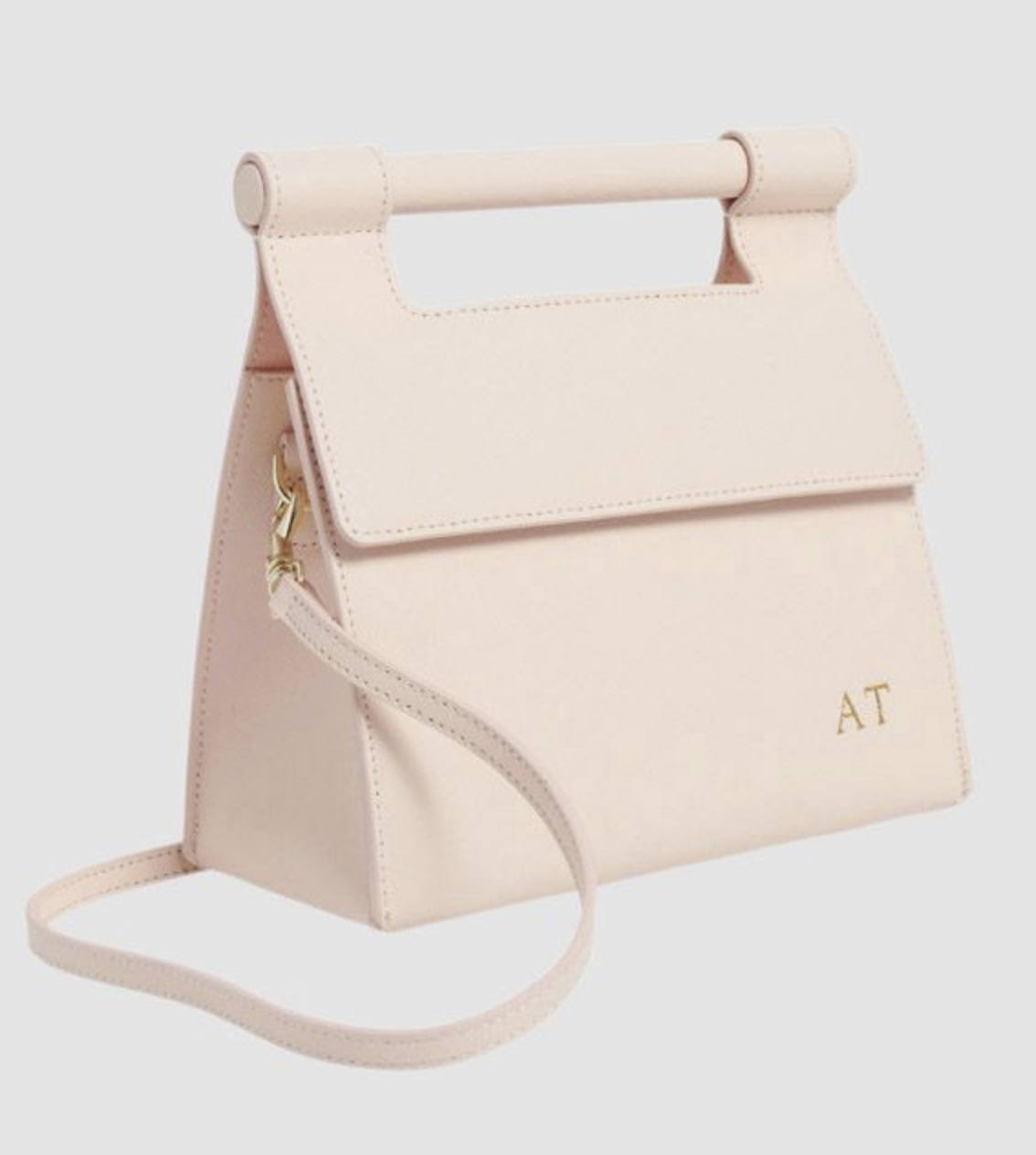 The Daily Edited Pale Pink Handle Shoulder Bag