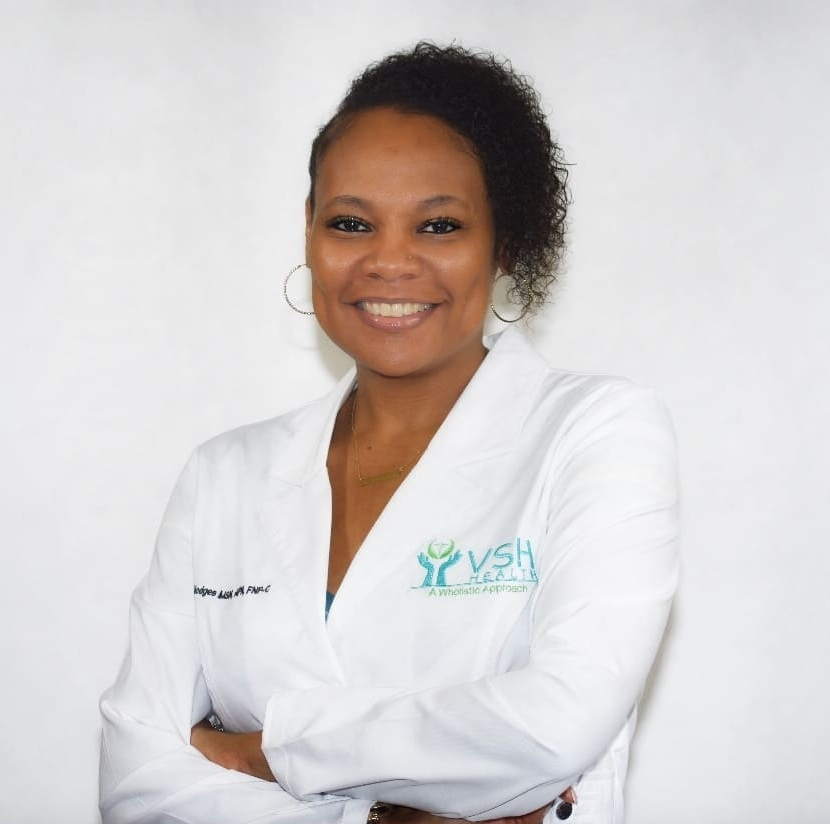 Veliscia Hodges, APN, MSN, FNP-C - I am a board certified Family Nurse Practitioner. I attended the University of St. Francis where I graduated at the top of my class as an Advanced Practice Nurse (APN). Before advancing my career as an APN, I was a Registered Nurse for 17 years — therefore, I have over 25 years in the medical field.