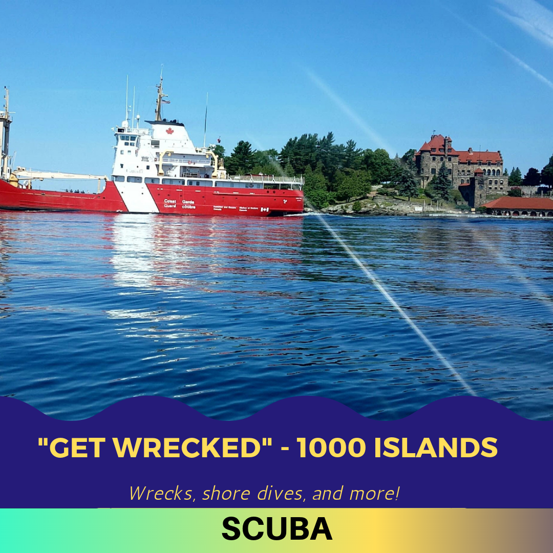 1000 Islands (St. Lawrence River), NY   A freshwater wreck-diving paradise in our own New York backyard.