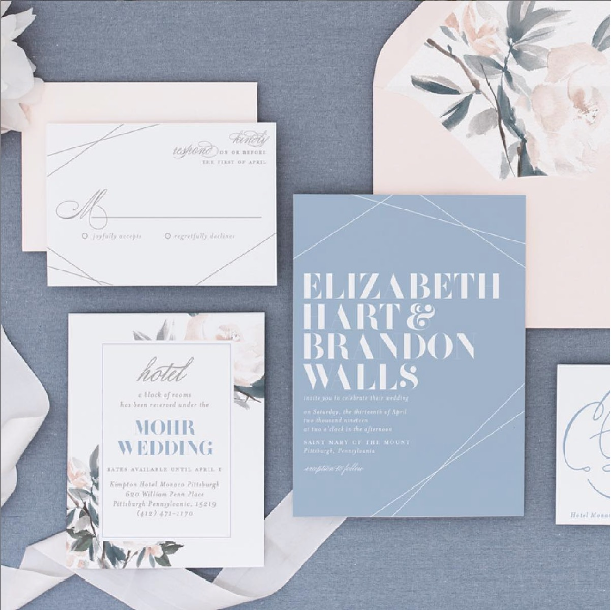 - blushpaperco This suite is layered and lovely. Serifs, calligraphy, color, florals, lines.The gang's all here and looking oh-so-fine. 💌🌸🎨 #bpcsuitepieces