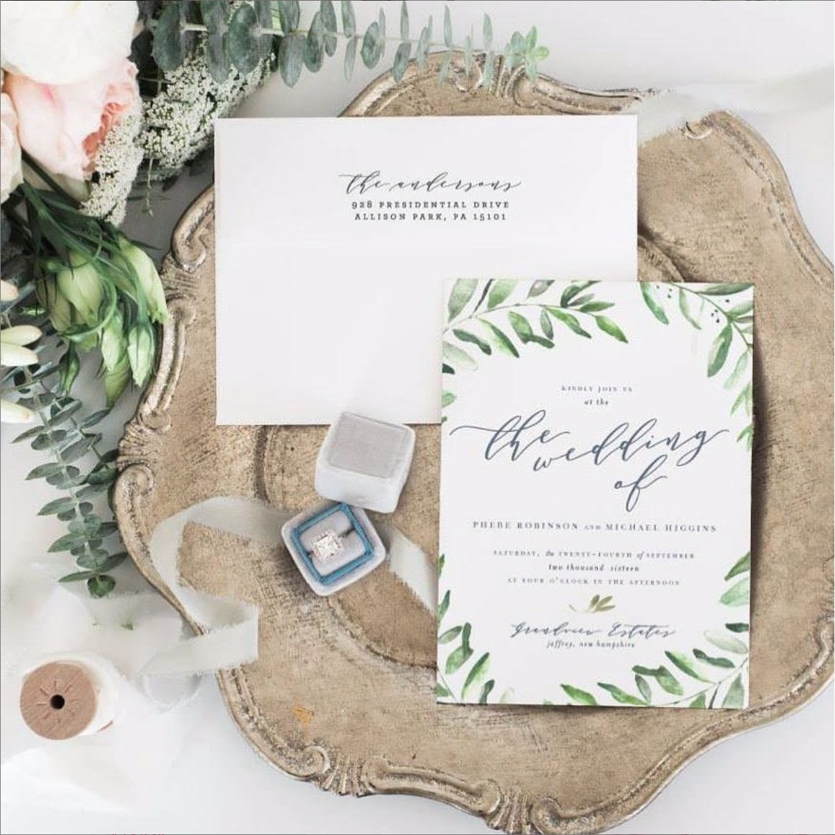- blushpaperco What's the point of a sweet #suite, if the address on the envelope is a hot mess? #juststampitCheck out all of the pretty, personalized return address stamps in the @etsy shop.