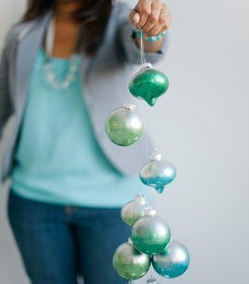 Ombré Glitter Ornaments - @confetti_pop These DIY Metallic Ombré Glitter Ornaments pack a pretty punch. #CPCraftsmas(image: Melissa Oholendt)