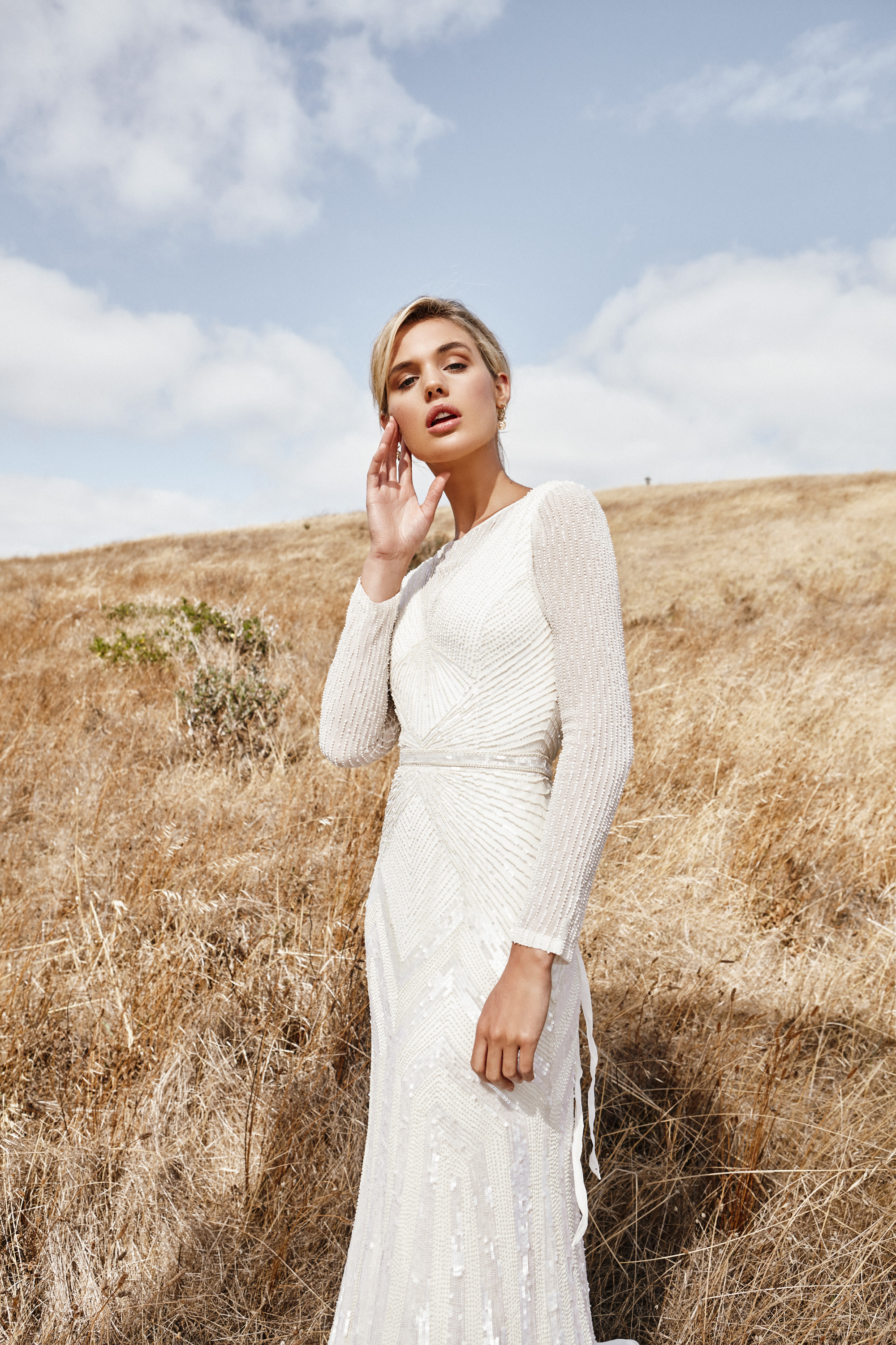 Modest Wedding Dress by KWH available at The Bridal Studio slc county