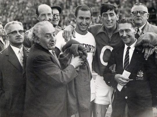 Billy Morton, Herb Elliott and Ronnie Delany