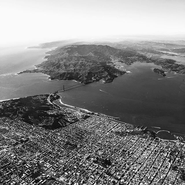 The outdoors is one @golden_gate_bridge ride from this concrete jungle! #SanFrancisco #Outdoors #BlackandWhite