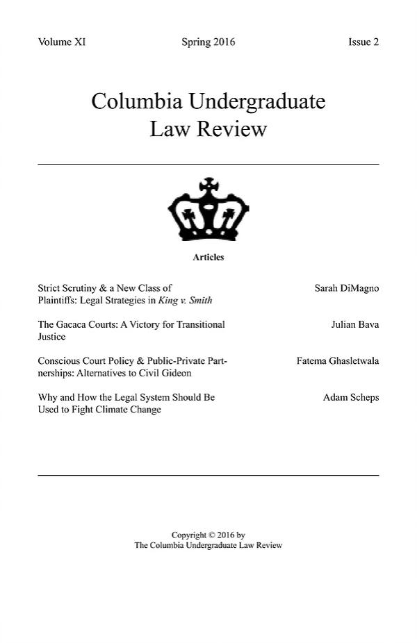 Volume XI, Issue II: Spring 2016