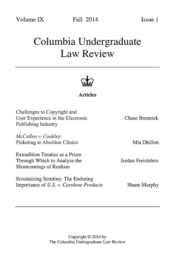 Volume XI, Issue I: Fall 2014