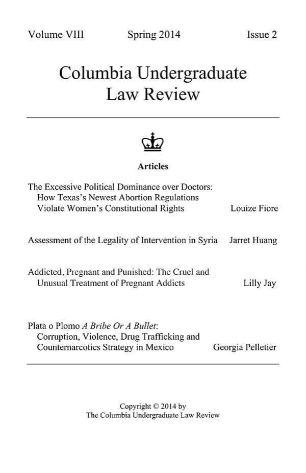 Volume VIII, Issue II: Spring 2014