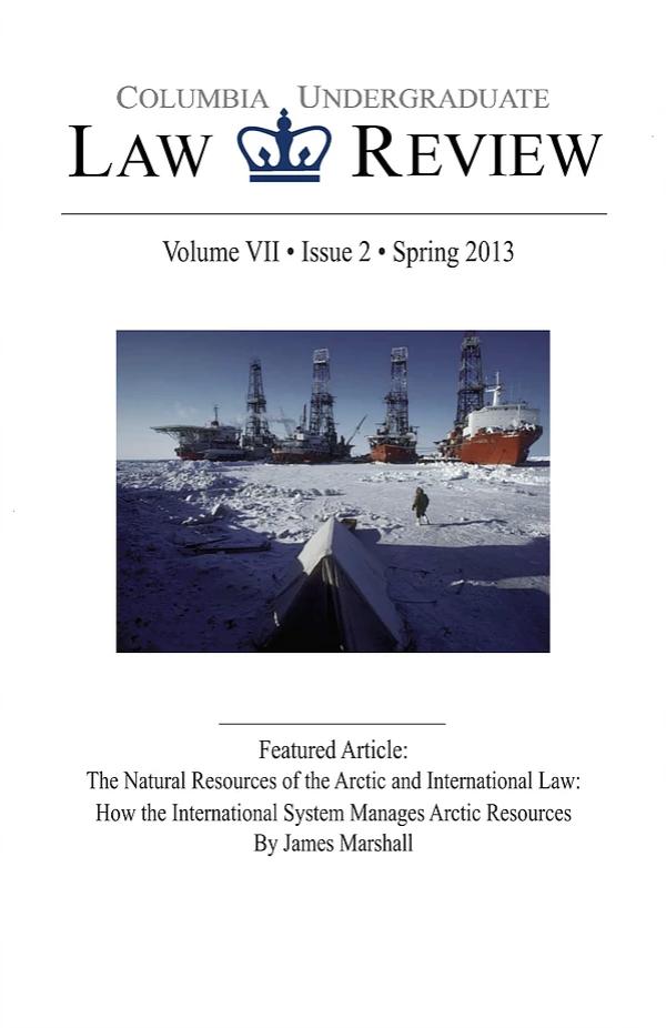 Volume VII, Issue II: Spring 2013