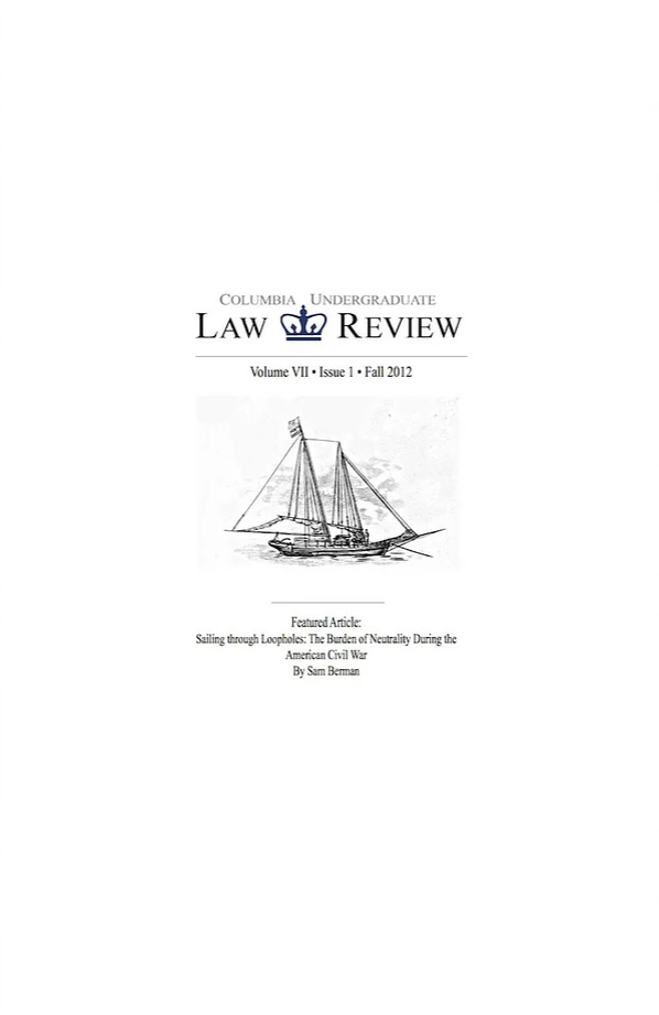 Volume VII, Issue I: Fall 2012