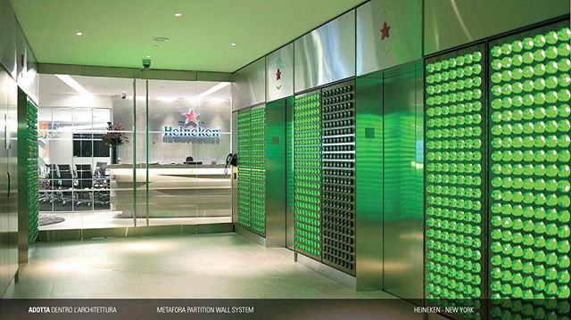 Heineken's office in New York was a great space to showcase Adotta's Interior Glass Partition Walls and Doors. The products allow for more natural light to enter and remain in a space.   #interiordesign #glass #glasspartition #architecture #interiordesign #office #officedesign