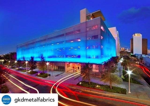 Posted @withrepost • @gkdmetalfabrics We're heading to Florida! Our team will be at #AIAFLA later this week showcasing our metal fabric designs. In anticipation for our time in the Sunshine State, we're sharing some of our favorite Florida installations, including our Helix metal fabric facade at the Pennsylvania Avenue Parking Garage in Miami Beach. The Pennsylvania Avenue Parking Garage is part of a campus that includes a new home for the New World Symphony America's Orchestral Academy. The energy-efficient structure prominently features GKD's Helix 12 woven metal fabric as the exterior façade element, LED lights, maximizes natural lighting and ventilation, offers safety and security, and can withstand hurricane force winds. It received the Award of Excellence for New Parking Structures by the Florida Parking Association. . #gkdmetalfabric #gkdmetalfabrics #gkd #metalfabric #metalmesh #designwithmetal #parkinggarage #parkinggaragearchitecture #parkingarchitecture #facade #metalfacade