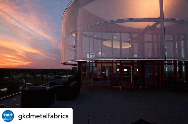 Posted @withrepost • @gkdmetalfabrics Another Florida project! In 2016, we worked with The Streamsong Resort, a luxury resort in Bowling Green, Florida. Influenced by the ancient elements of the land, a vertical stacking structure transpired for the lodge. Four layers representing the landscape emerged as the main structures of the project: Submersion, Bank, Canopy and Sky. . Perhaps the most popular element of the entire resort is the Sky patio and roof lounge. Each evening, a spectacular show is put on at sunset with an encore of sprawling stars across the navy Florida night. Sunshading was a key necessity on the Sky patio with the proximity of the sun in Florida. The architect needed to shield guests from heat without obstructing views to the outside. To do so, our stainless steel metal fabric Omega 1520 was used to wrap the glass lounge. The woven metal mesh material provided much needed sunshading with unhindered views of the open sky. . Metal fabric also offers durability, low-maintenance, and can withstand extreme wind and weather elements native to Florida's hurricane seasons. Among traditional building materials used in the project, wood, concrete, and stone, GKD metal fabric blends seamlessly creating a lightweight façade that is reflective and functional for a luxurious destination. . #gkd #gkdmetalfabric #gkdmetalfabrics #metalmesh #metalfabric #facade #facades #sunshading #solarcontrol #architecture #buildwithmetal #designwithmetal