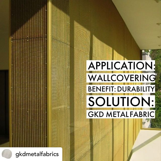 Posted @withrepost • @gkdmetalfabrics High traffic areas are protected with durable metal fabric without compromising design.  #wallcovering #wallprotection #metalfabric #metalmesh #architecture #design #designsolutions #commercialdesign #interiordesign