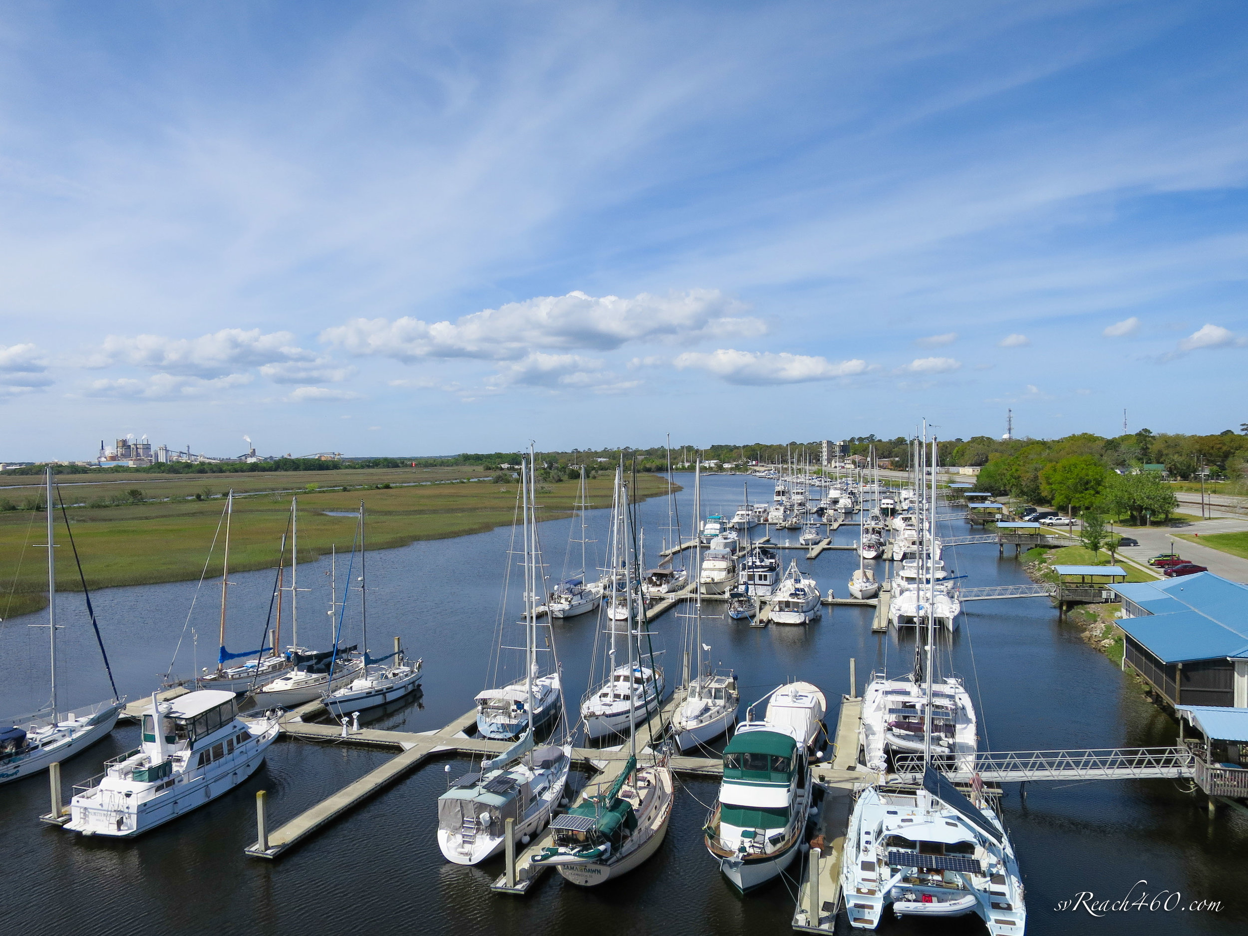 Marina protected by the marshes