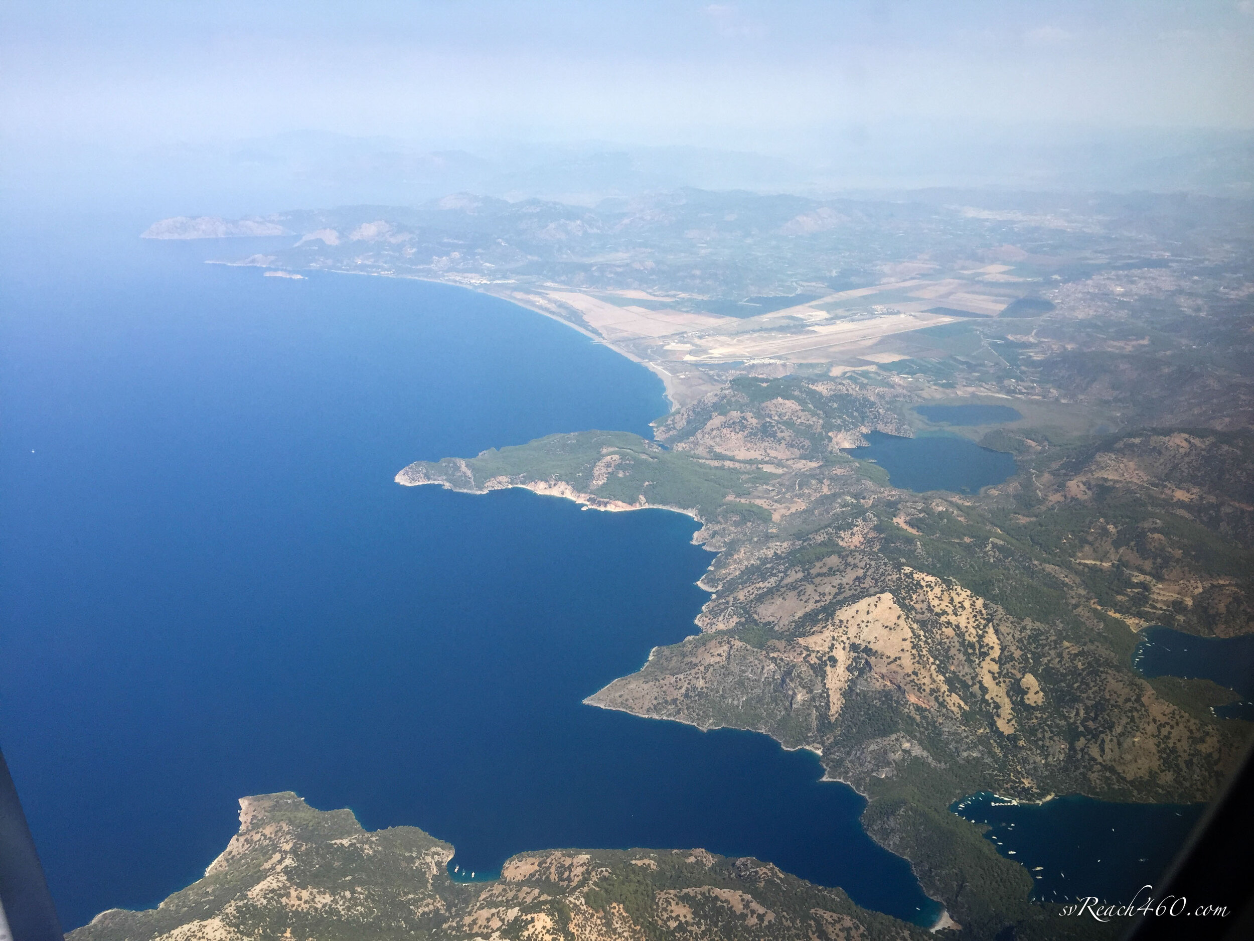 Leaving the Mediterranean coast